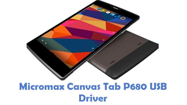 Micromax Canvas Tab P680 USB Driver