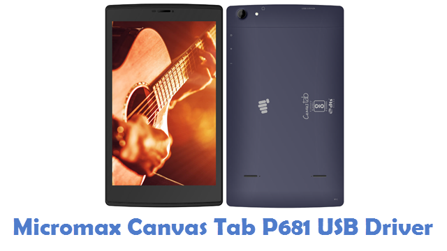 Micromax Canvas Tab P681 USB Driver