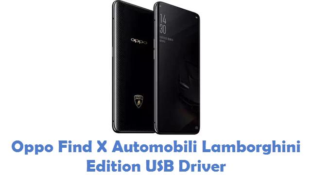 Oppo Find X Automobili Lamborghini Edition USB Driver