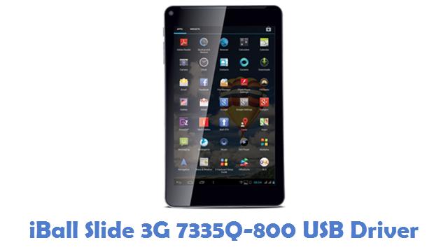 iBall Slide 3G 7335Q-800 USB Driver