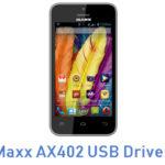 Maxx AX402 USB Driver