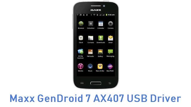 Maxx GenDroid 7 AX407 USB Driver