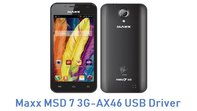 Maxx MSD 7 3G-AX46 USB Driver