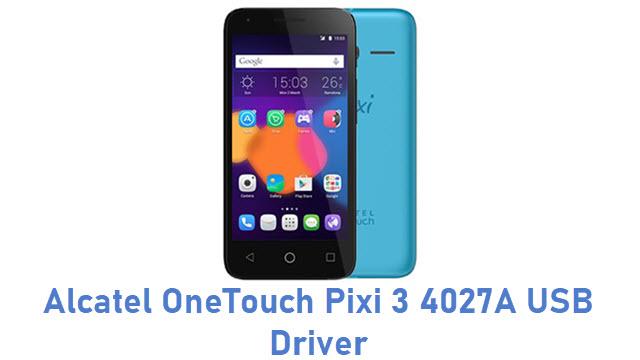 Alcatel OneTouch Pixi 3 4027A USB Driver