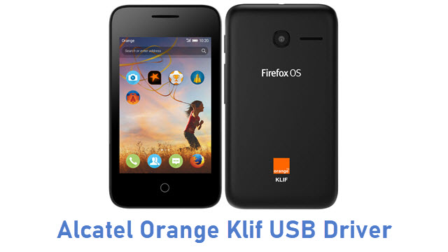 Alcatel Orange Klif USB Driver