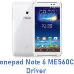 Asus Fonepad Note 6 ME560CG USB Driver