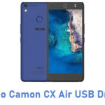 Tecno Camon CX Air USB Driver