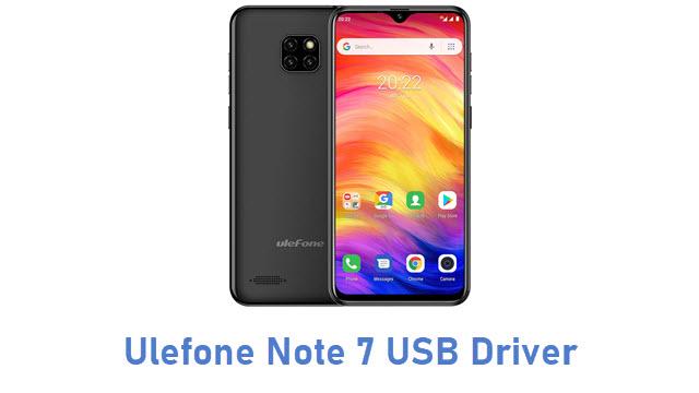 Ulefone Note 7 USB Driver