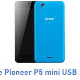 Gionee Pioneer P5 mini USB Driver