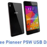 Gionee Pioneer P5W USB Driver