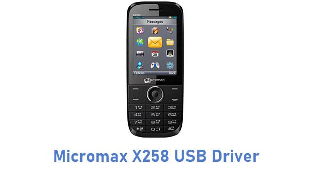 Micromax X258 USB Driver
