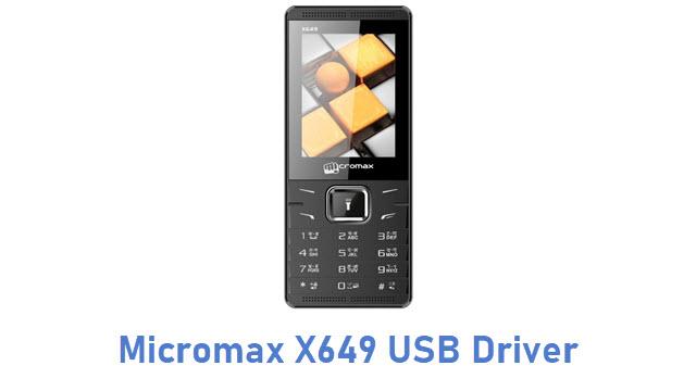 Micromax X649 USB Driver