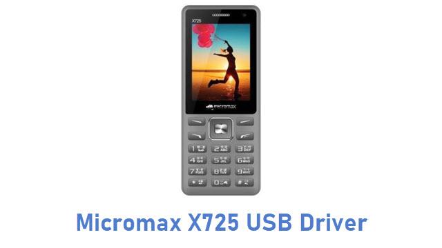 Micromax X725 USB Driver