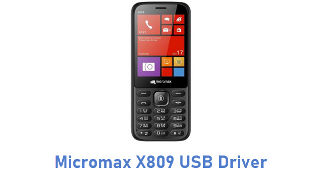 Micromax X809 USB Driver