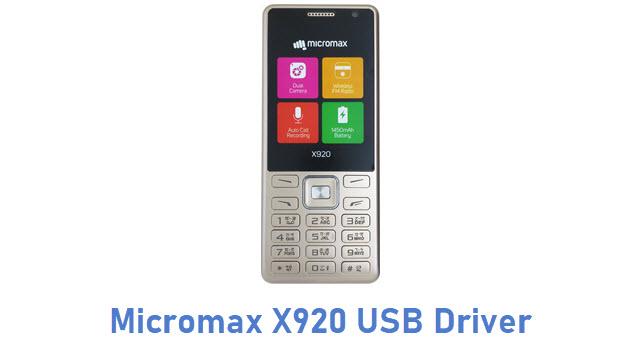 Micromax X920 USB Driver