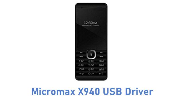 Micromax X940 USB Driver