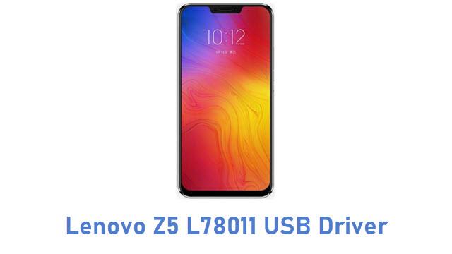 Lenovo Z5 L78011 USB Driver