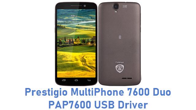Prestigio MultiPhone 7600 Duo PAP7600 USB Driver