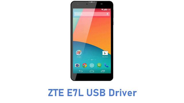 ZTE E7L USB Driver