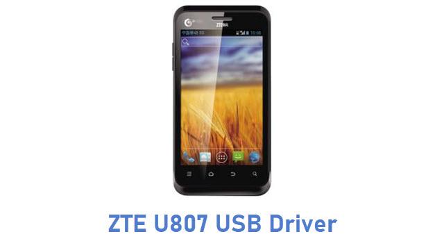 ZTE U807 USB Driver