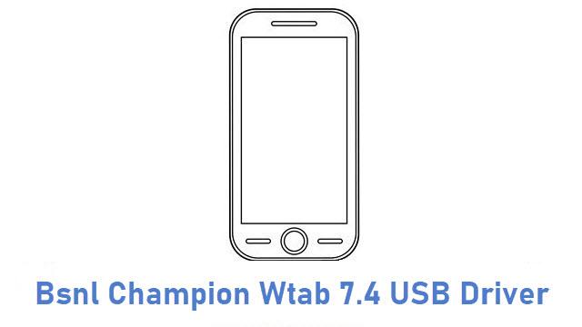 Bsnl Champion Wtab 7.4 USB Driver