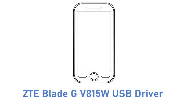 ZTE Blade G V815W USB Driver