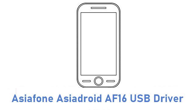 Asiafone Asiadroid AF16 USB Driver