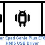 Eurostar Epad Genie Plus ET8583G-HM15 USB Driver
