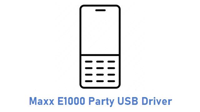Maxx E1000 Party USB Driver